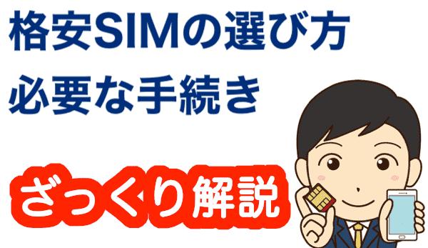 格安SIMの選び方と必要な手続き