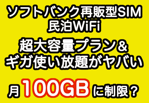 ソフトバンク再販型SIMの100GB制限
