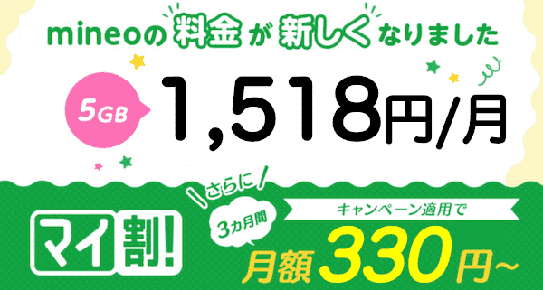 mineo(マイネオ)のキャンペーン