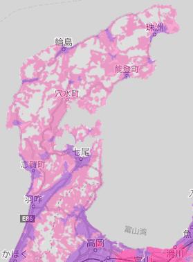 楽天回線エリア(福井)