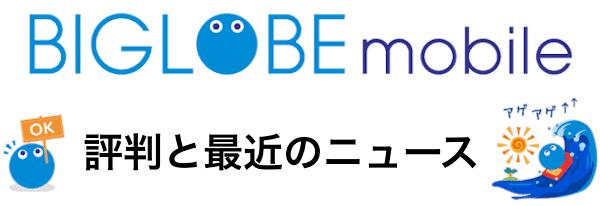 BIGLOBEモバイルの評判