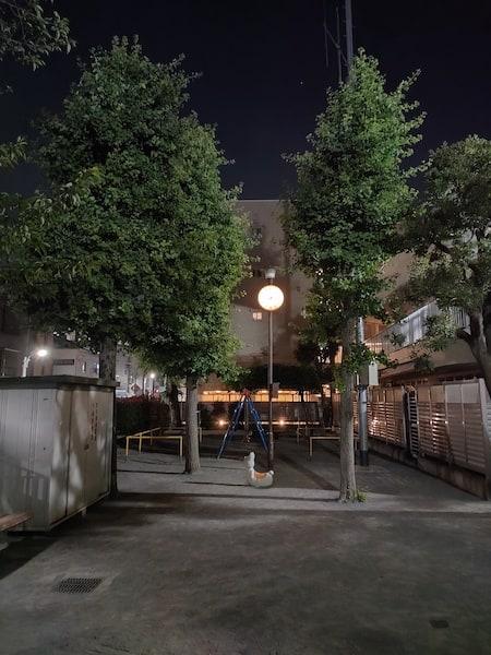 OPPO Reno5 Aのメインカメラの夜景モードの写真