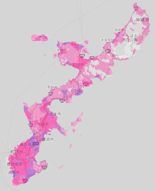 楽天回線エリア(沖縄)