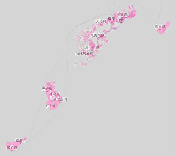 楽天モバイルの沖縄1の電波エリア
