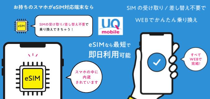 UQモバイルのeSIMのまとめ